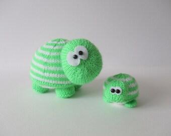 Tim and Tom Turtles toy knitting patterns