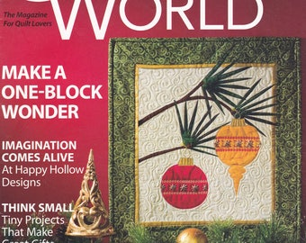 Quilter's World, The Magazine for Quilt Lovers, December 2009, Quilt Techniques, Quilt Patterns, Quilt Designs