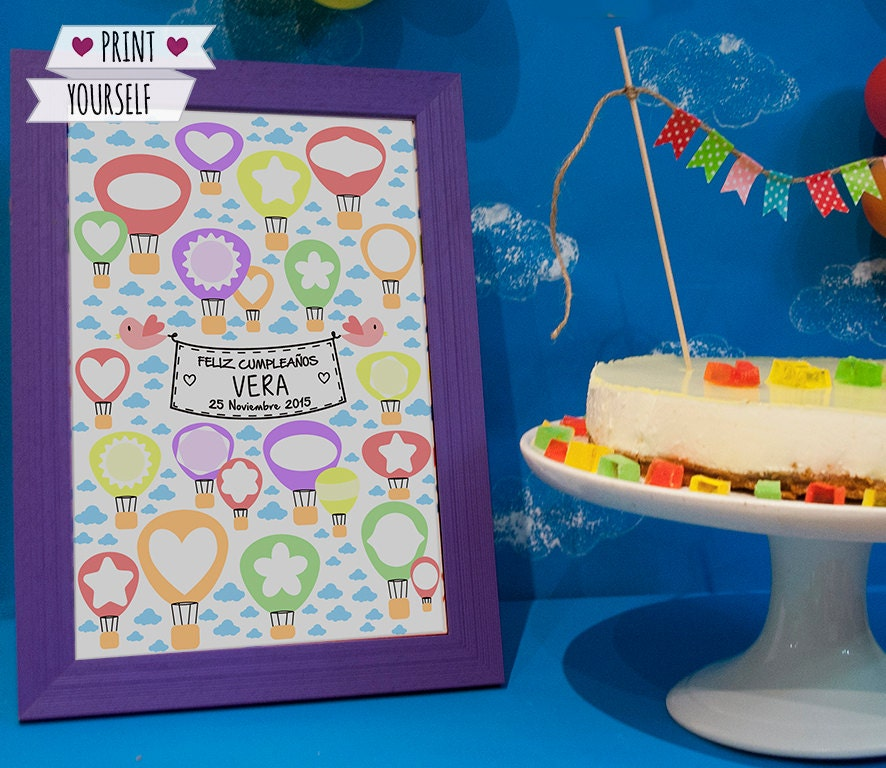 hot air balloon guest book printable pdf oh the places you