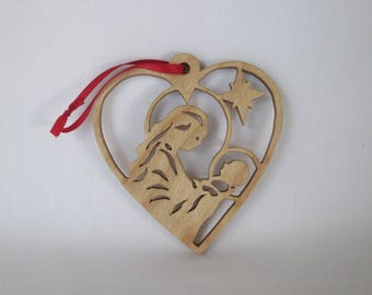 Christmas tree decoration - scroll saw cut