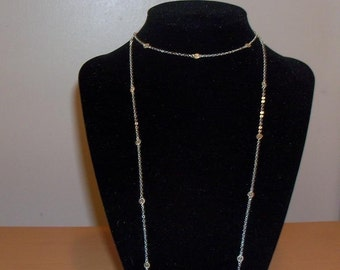 Sterling Silver Disc Necklace, 30 34 38 44 inch Small 4mm Disc, Cougar Town Inspired Worn by Jules Cobb, Courtney Cox, Double Jewelry Chain