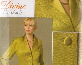 Vogue Divine Details Pattern 8458 JACKET Misses Sizes 18 20 22