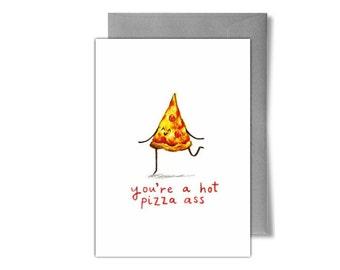 Hot Pizza Birthday/Anniversary Card