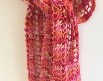 Lightweight springtime lacy scarf