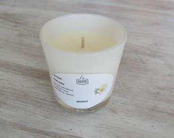 """Bougie Artisanale Parfumée verre opaque """"Monoï"""""""