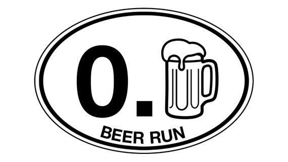 Beer run sticker decal car truck camper bumper cooler and bar decoration great gift weather water resistant brew fun