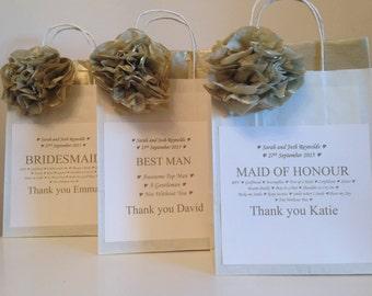 Beautiful - Maid of Honour /Bridesmaid / Best Man Personalised Gift Bag