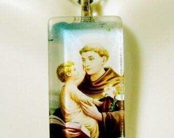 Saint Anthony pendant with chain - GP12-322