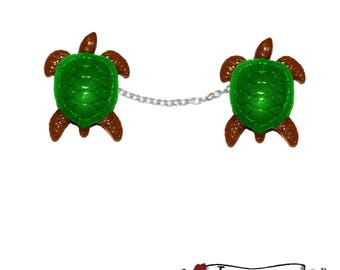 Turtle Sweater Clips - Tiki Tropical Zoo Reptiles Retro Pinup Rockabilly
