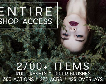 2700+ Items Entire Shop Access Lightroom Presets & Brushes/ Photoshop Actions, ACR Filters And Overlays All Products By LouMarksPhoto