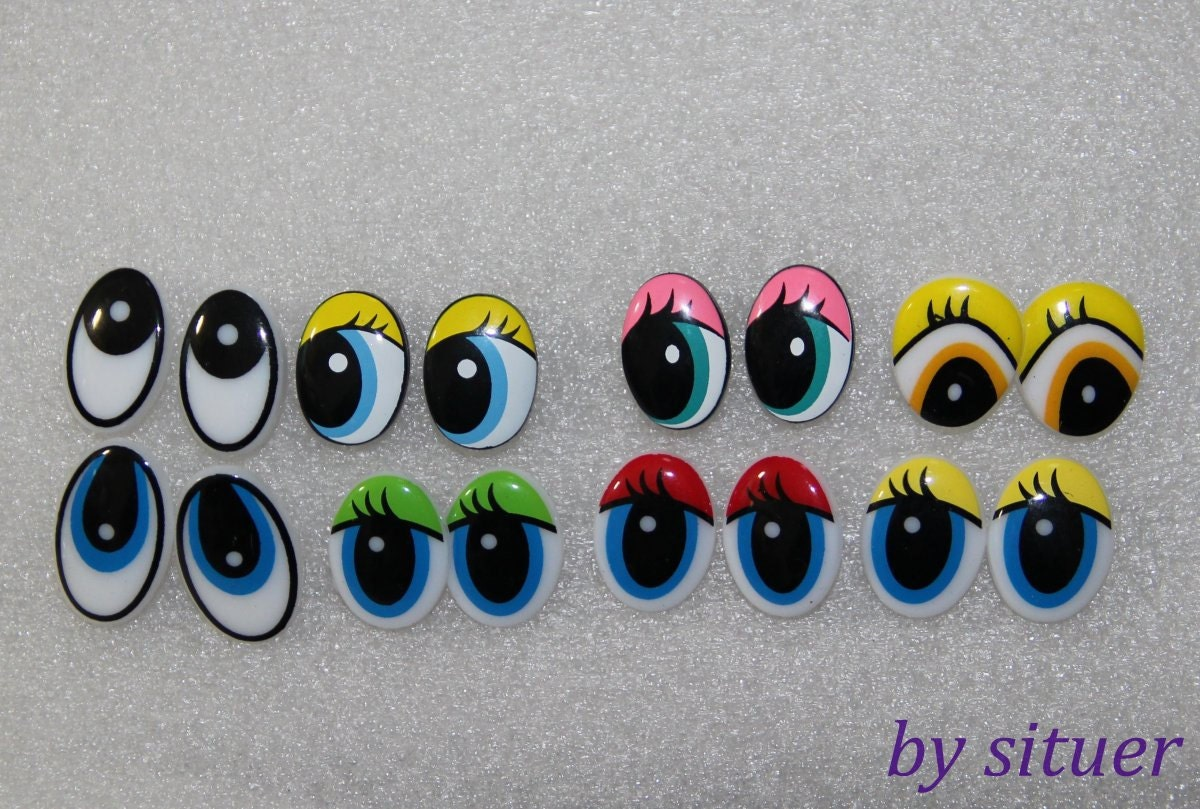Eyes For Amigurumi : 15mm 8 types cartoon eyes safety eyes for amigurumi 1pairs