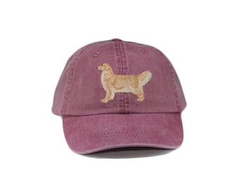 Golden retriever embroidered hat, baseball cap, dog lover gift, pet mom cap, dog mom, gift for pet lover, dad hat, dog agility, blond coat