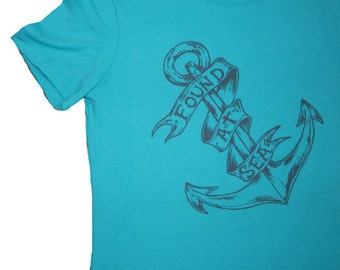 Found At Sea T-Shirt, Womens Next Level T, Anchor, Original Art, Screen Printed