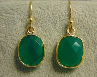 Kate Middleton Inspired Green Onyx Earrings
