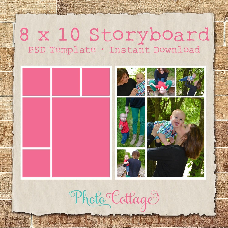 8 x 10 Fotografie Storyboard Vorlage digitale Collage
