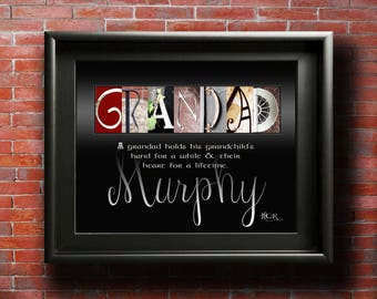 Grandad Gifts, PRINTABLE, Grandad Fathers Day, Grandfather Gift, Grandad, Only the best dads get promoted to GRANDAD, Persoanlized grandad