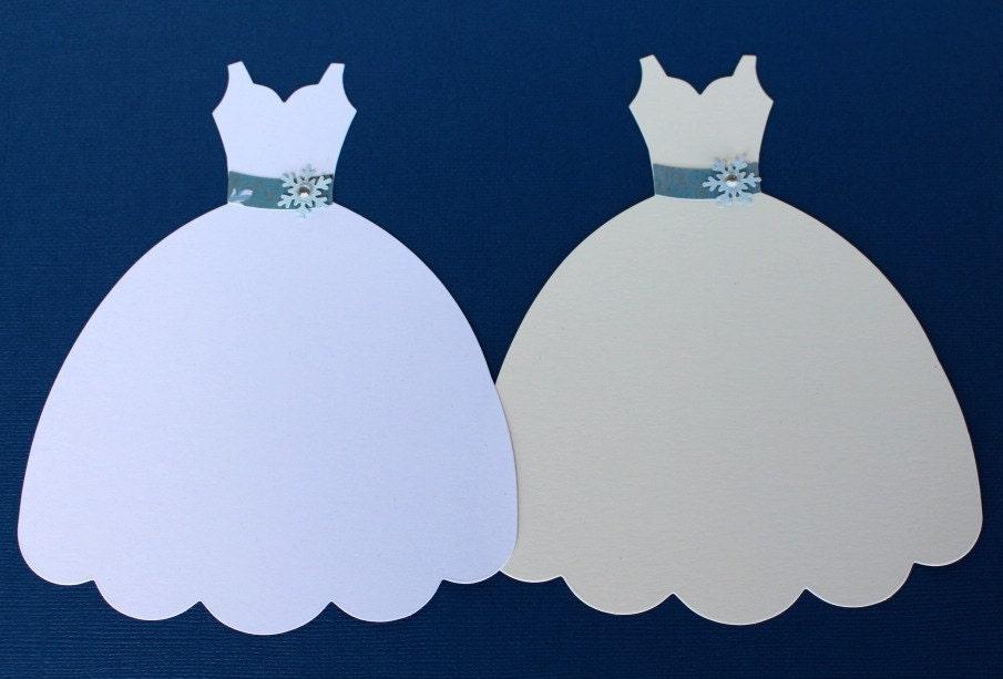 Winter Wedding Dress Large Die Cut Dress Form Sizzix Fabi