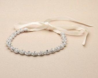 Crystal Headband, Silver Headband, Bridal Headpiece, Bridal Headband, Wedding Headpiece, Wedding Headband, Hair Accessories, Bridal Tiara