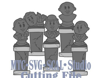 SVG Cut File Haunted Mansion Statues #02 Silhouette SCAL Cricut MTC Cutting File