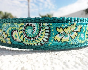 """Small Dog Collar, Natures Circles, Quick Release or, Martingale collar, 3/4"""" wide adjustable"""
