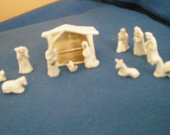 Nativity Set, Doll House Size, porcelain