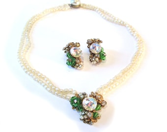 Necklace and Earrings Demi-parure by Robert