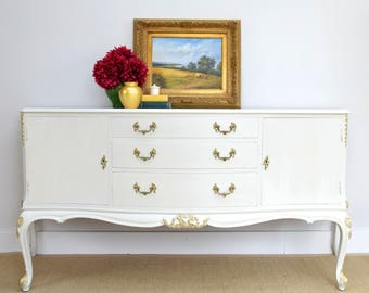 Vintage Sideboard, Quality Handmade Cupboard, Up-cycled Furniture, Painted Furniture, Cream French Style Dresser, Painted Cupboard Lowboard
