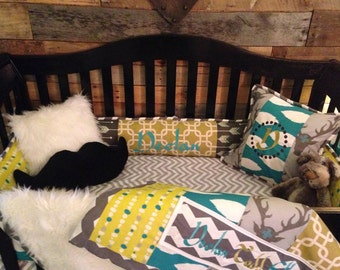 Custom Crib Bedding-rustic