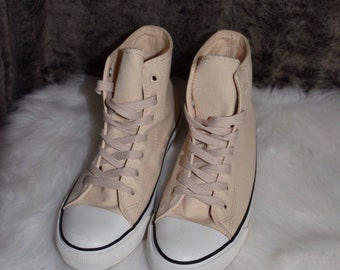 Baby pink converse style sneakers