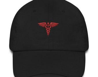 Medicine Dad Hat - Medicine Hat - Nurse Hat - Doctor Hat - Caduceus - Caduceus Hat - Medicine - Caduceus Cap - Nurse - Doctor - Hospital