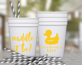 Rubber Ducky Baby Shower | Gender Reveal Party Favor Cups | social graces and Co.