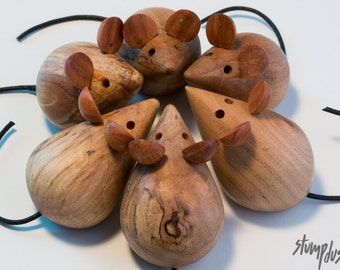 Hand-turned Wooden Mouse