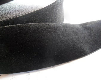 2  inch wide Raven Black Velvet Ribbon