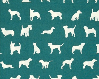 The Dog Show on Teal From Birch Organic Fabric's Farm Fresh Collection by Jay-Cyn Designs