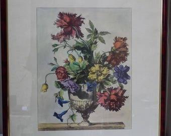 Vintage Framed Floral Display Print