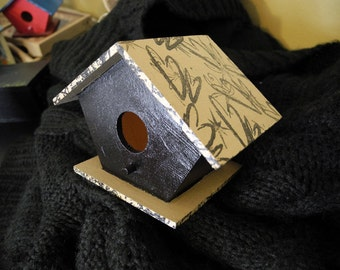 VALENTINE SPECIAL, Taupe & Black Birdhouse: 1 sold, 9 available
