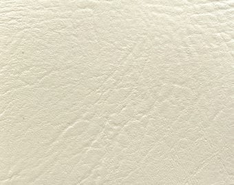 """Beige Vinyl Fabric Faux Leather Pleather Upholstery 54"""" Wide By the Yard"""