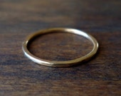 Gold Ring- Skinny Stacker - Handmade