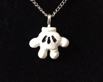 Mickey Mouse Glove Charm Necklace