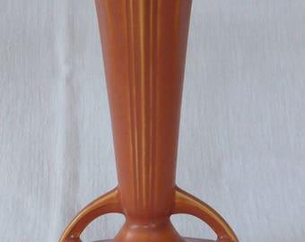 Vintage Roseville Art Pottery Russco Pattern Trumpet Vase