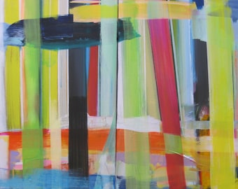 "Intersect original painting diptych on canvas 20"" x 32"""