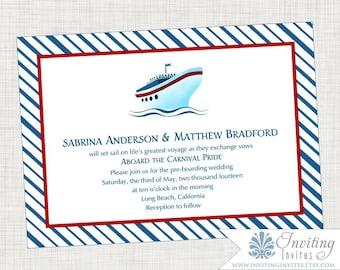 Cruise Ship Wedding Invitation - Printable Digital