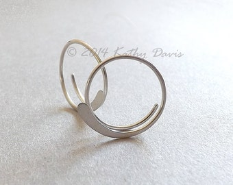 Small Sterling Silver Open Hoops Hammered Silver Hoop Earrings, custom hoops, jewelry gift for her, Mother gift hoop earrings Mom gift
