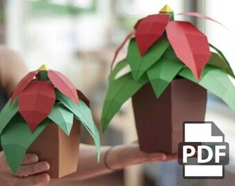 Christmas Star - DIY Papercraft Kit (Instant Download)