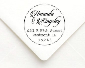 Personalized Self Inking Return Address Stamp - self inking address stamp - Custom Rubber Stamp A20