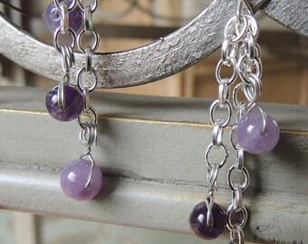 Gemstone Sphere Earrings