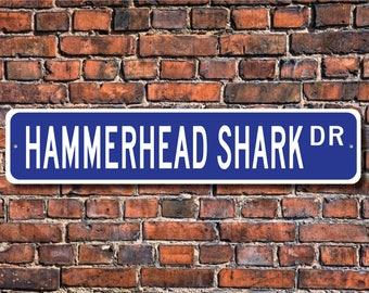 Hammerhead Shark, Hammerhead Shark Gift, Hammerhead Shark Sign, Hammerhead Shark decor, Shark lover, Custom Street Sign, Quality Metal sign