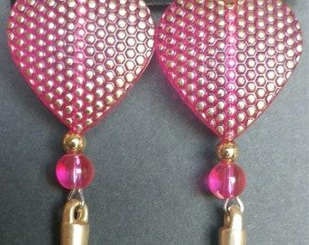Earrings Pink Gold heart