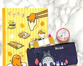 Mini study set-case, notebook, washi tape, post-it