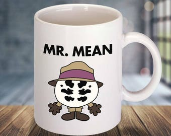 Rorschach / Mr Mean Parody Ceramic Mug Watchmen